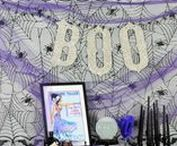 Party Ideas - Halloween Decor & DIY / Ideas, inspiration and DIY for Halloween decorations, crafts and costumes.  All of the things I love about Halloween! costumes, styling,food, drink, crafts, photo booths,pumpkin carving and decorating, vintage posters, decorations, make-up, parties and trick or treating.