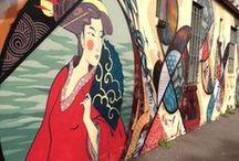 Inspiration- Street Art & Graffitti / Ideas & inspiration from street artists.  Murals and art installations.