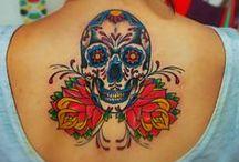 Tattoos.