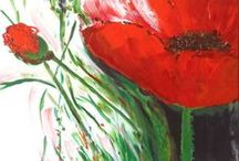 poppies, poppies / I love poppies - single flowers, paintings, fields, dishes, fabrics...