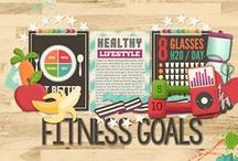 Sweet On: Health and Fitness / Scrapbook Inspiration for Healthy Living and Fitness Layouts