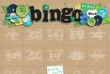 Sweet Shoppe Designs Bingo Challenge / Inspiring scrapbooking challenges perfect to get those creative juices flowing!