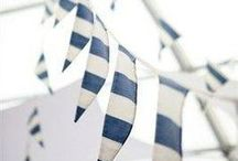Nautical Party / Ahoy! Find cute ideas to plan a Nautical Christening Party. Inspired by Baby Beau & Belle's Cameron, Noah & Owen Collection.
