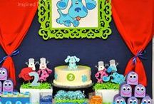 Party Ideas - Blues Clues / Ideas & inspiration for a blues clues party, everything from food, drink and décor to favors and fun DIY to keep the costs down.