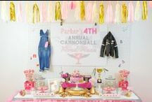 Party ideas - Dessert table backdrops / Birthday party dessert table backdrops, easy backdrops, DIY backdrops