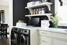LAUNDRY | MUDROOM / Beautiful organization in what otherwise is a war zone of the less glamours areas of daily life.