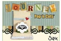 Journey Pop 'n Cuts Cards / Pop-up cards made using the Sizzix Karen Burniston Journey Collection of Pop 'n Cuts and accessory dies.