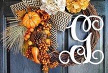 Autumn / Fall-themed decorating and foods