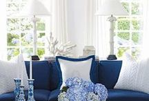 Blue and White Decor / Home decorating ideas in classic blue and white