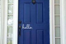 Front door decor / Wreaths  and other decor for your front door