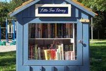 Little Free Library / Borrow a book, return the book. Donate a book.