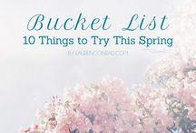 bucket list. / it's gonna happen. one day. / by Jamie