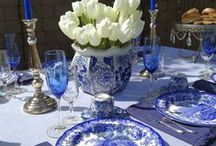 Blue and White Design @ White Spray Paint / Blue and White Design.