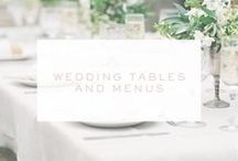 Wedding Table Decor and Menu Design Ideas / Discover plenty of wedding table decor inspiration for any beautiful, modern wedding theme right here. From table numbers to place settings and menus to centrepieces, you'll find loads of wedding table ideas on this board.