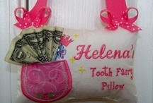 ToothFairy Pillow / ToothFairy Pillows for boys and girls.  Boutique embroidery style pillow's for little ones.  Just too cute! / by Carolyn Christian