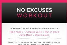 No access to gym- Workout ideas / by Angie Portacio