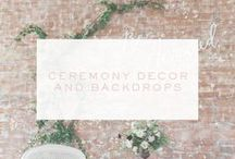 Wedding Ceremony Decor / Discover plenty of wedding venue decor inspiration for any beautiful, modern wedding theme right here. From backdrops to aisles and seating, you'll find loads of wedding ceremony ideas on this board.
