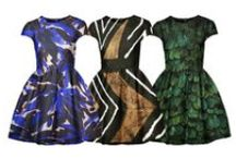 PRINT INSPIRATION / Dresses I make digitally to experiment about prints and shapes..