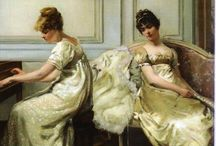 Genre Paintings / Artists who paint elaborate and often sentimental scenes of bygone times are known as genre painters. Their historical accuracy in depicting costumes, architecture, and settings is often spot on. / by Vic (Jane Austen's World)