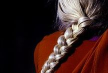 EASTERN EUROPEAN / #Eastern Europe  #Folklore #Russian #Braids #Red #Ribbons