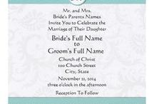 Wedding Invitations☼ / Look through these wedding invitation ideas to find the perfect invitation for your event. Some of these can be printed at home and others need to be ordered.