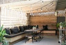 Exterior   Patio / No home is complete without a place to enjoy the backyard. Patios are an easy way to host parties and spend time outdoors! These patios will provide you with inspiration for beautifying your own!