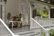 Exterior   Porches / Not only are porches sooo charming, but they are a great place to relax and stay awhile. Use these porches as ideas for creating and designing yours!