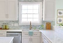 DIY   Kitchen / DIYing your kitchen has never been easier. Simple changes like painting your cabinets and adding a backsplash can make a huge difference!