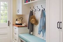 Interior   Mudroom / Mudrooms are a must in any home with kids! A great place to hang up coats and backpacks and leave shoes.