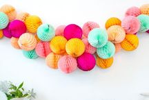 Garlands + Banners / Gorgeous inspiration for party and celebration garlands and banners!