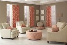 Rowley Living Room Roomscape / Rowley Company shows off a living room in contemporary style and on-trend fabrics / by Rowley Company