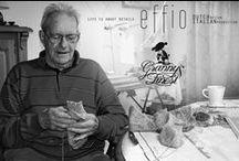 Effio x Granny's Finest / Cashmere collection by Rosanne van der Meer and old fashion socks from grandpa Leo Samuel van Leeuwen