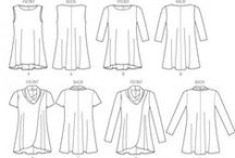 sewing pattern women tops - patrons couture femme hauts