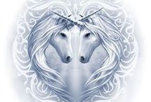 ❧ Unicorns ❧ / Always loved Unicorns. Please enjoy my board :D Thank You  / by Mary E. Berens-Oney