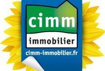 Logos / Aux couleurs de Cimm Immobilier.
