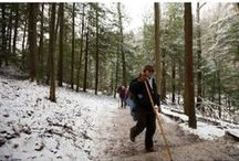 Winter in the Hocking HIlls / The Hocking Hills is absolutely beautiful in the winter months. Plus the rates for cabins and lodges are usually lower so it is a good time to come when you can save money on your budget. Plus the Annual Winter Hike is always the second weekend in January.