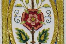Mary Corbet's Needle n' Thread / Beautiful Mission Rose that Mary embroidered