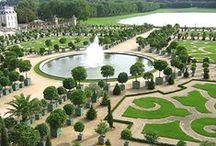 Jardins / Gardens / Tous les jardins qui nous ont plus et rattachés à de belles propriétés en vente ou en location ! #jardin #propriété