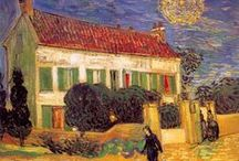 Tableaux / Paintings / Des oeuvres d'art de peintres, ayant pour thème les maisons, les monuments, les châteaux... #Peinture  De nombreux courants de peinture représentés.