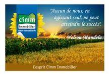 Les Citations Cimm Immobilier / L'esprit Cimm Immobilier en quelques citations ! #citation #immobilier