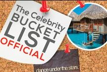 THE CELEBRITY BUCKET LIST - OFFICIAL  / Celebrities, what's on your bucket list?  / by Power of Pinterest Book
