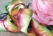 CottageCO: Ombre Ribbons / Ombre ribbons, where colors blend from one shade to another. Sometimes called water color ribbons. Often used to make ribbon flowers and in ribbon embroidery.