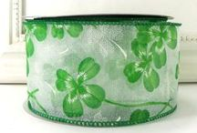 Cottage Crafts: St. Patrick's Day Ribbon / Ribbon for St. Patrick's Day crafts, decor, cards and wreaths from CottageCraftsOnline.com. Visit our shop to see our vast assortment of ribbons, from satins to burlaps to wired seasonal ribbons and supplies for diy crafting and home decor. https://www.etsy.com/shop/CottageCraftsOnline / by Cottage Crafts Online {Ribbons for DIY}
