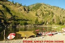 Salmon River Rafting / There is a green hole in the middle of Idaho. A spot refreshingly empty on your highway map. A place where pavement never was…and wild rivers still are…raw country, 20,000 square miles of it, and right through the middle runs the Salmon River- The River of No Return.