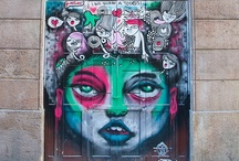 Door Graffiti Art / Each entryway is a canvas of endless possibilities.