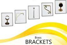 Brass Bracket / Collection of brackets to enhance your shelves, closets, and drapery. End brackets, Center brackets, Shelf brackets.