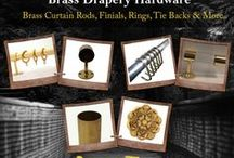 Brass Drapery / Our drapery collection which could be your  signature style from SignatureThings.com