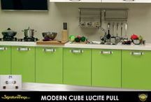 Lucite Pulls / Add a touch of elegance to your cabinets or drawers with Custom Lucite Pull's. We can custom make any of the Lucite Pulls in any size, Center to Center (c/c) or design (within reason).