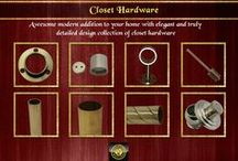 Brass Closet Hardware / Expansive and truly detailed design collection. All products are ready and can be customized based on your choice only at SignatureThings.com.