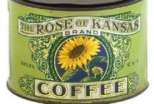 Old Coffee Tins / by Barb Lojwaniuk